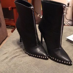 Never worn Black High Heeled studded Boots. 🆕